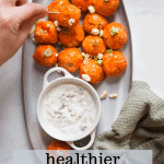 healthier buffalo chicken meatballs