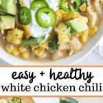 easy healthy white chicken chili
