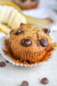 healthy banana muffin