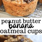 peanut butter banana oatmeal cups