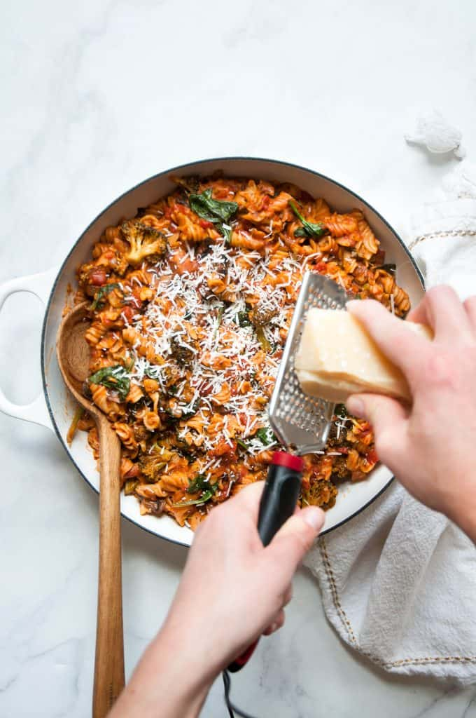 one pot pasta in dish