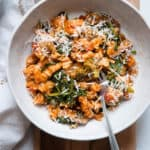 one pot pasta in bowl