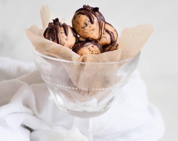 espresso cookie dough balls