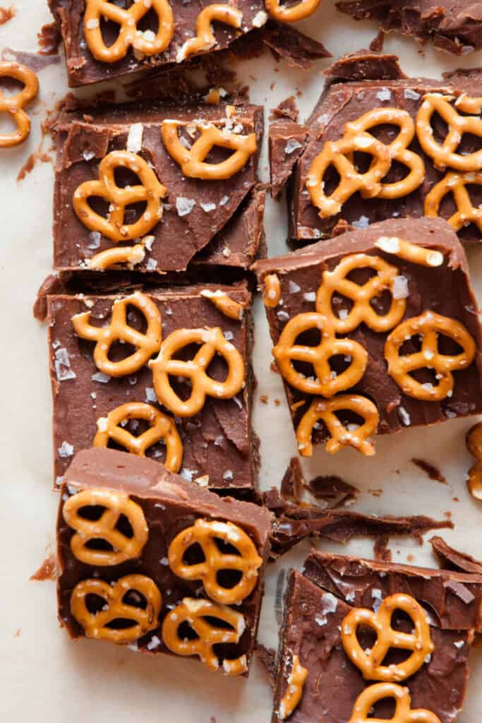 healthy peanut butter pretzel fudge