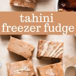 tahini freezer fudge
