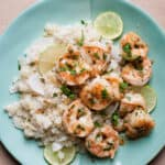 cilantro lime shrimp on plate