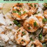cilantro lime shrimp with coconut cauliflower rice