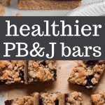 healthier peanut butter and jelly bars