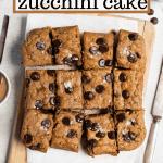 paleo zucchini cake