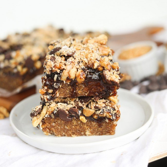 stack of healthier magic bars