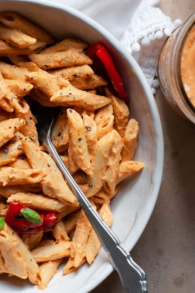 pasta with romesco sauce