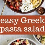 healthy greek pasta salad
