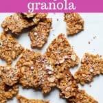 healthy birthday cake granola