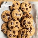 healthier peanut butter chocolate chip cookies