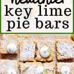 healthier key lime pie bars