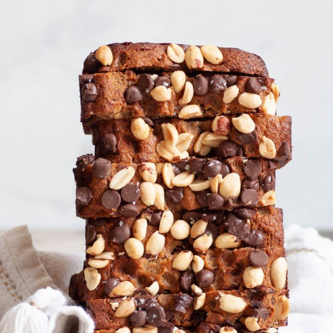 healthy peanut butter banana bread