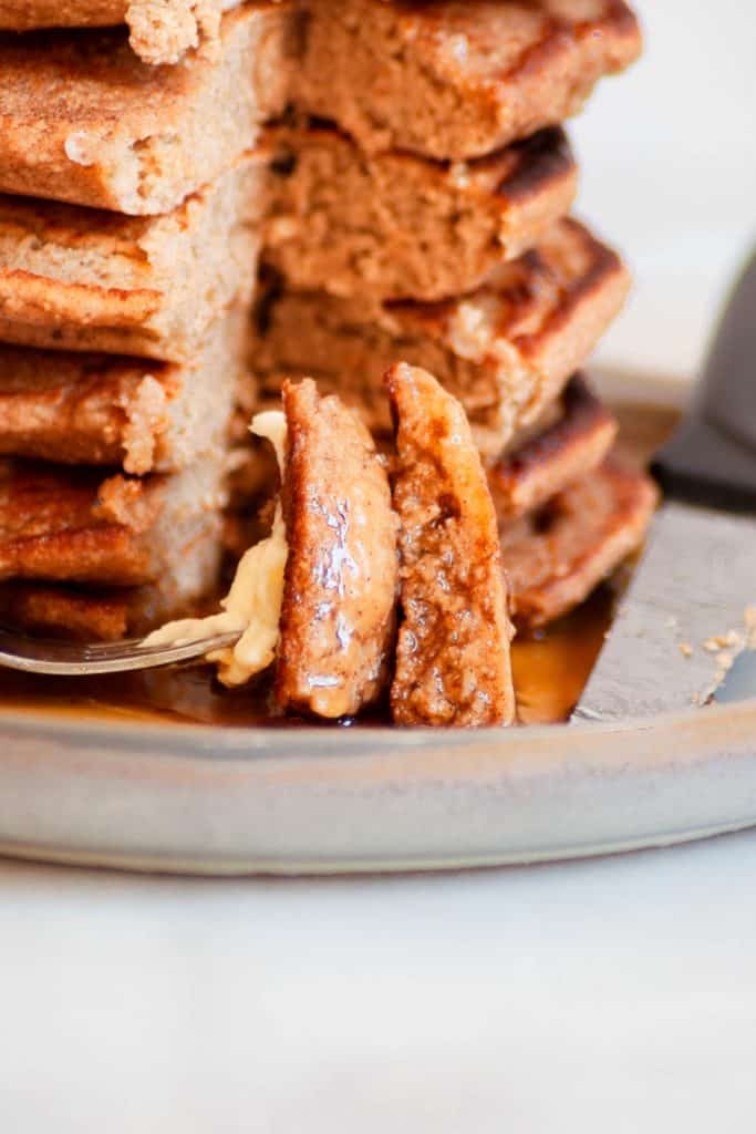 bite of blender pancakes