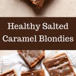 salted caramel blondie