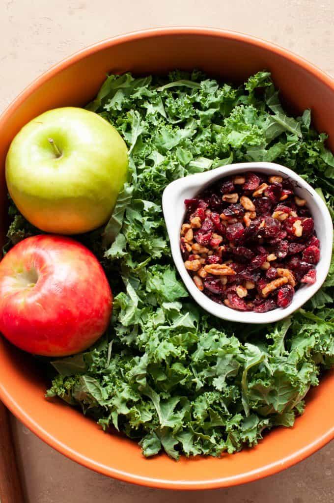 makings of fall harvest salad