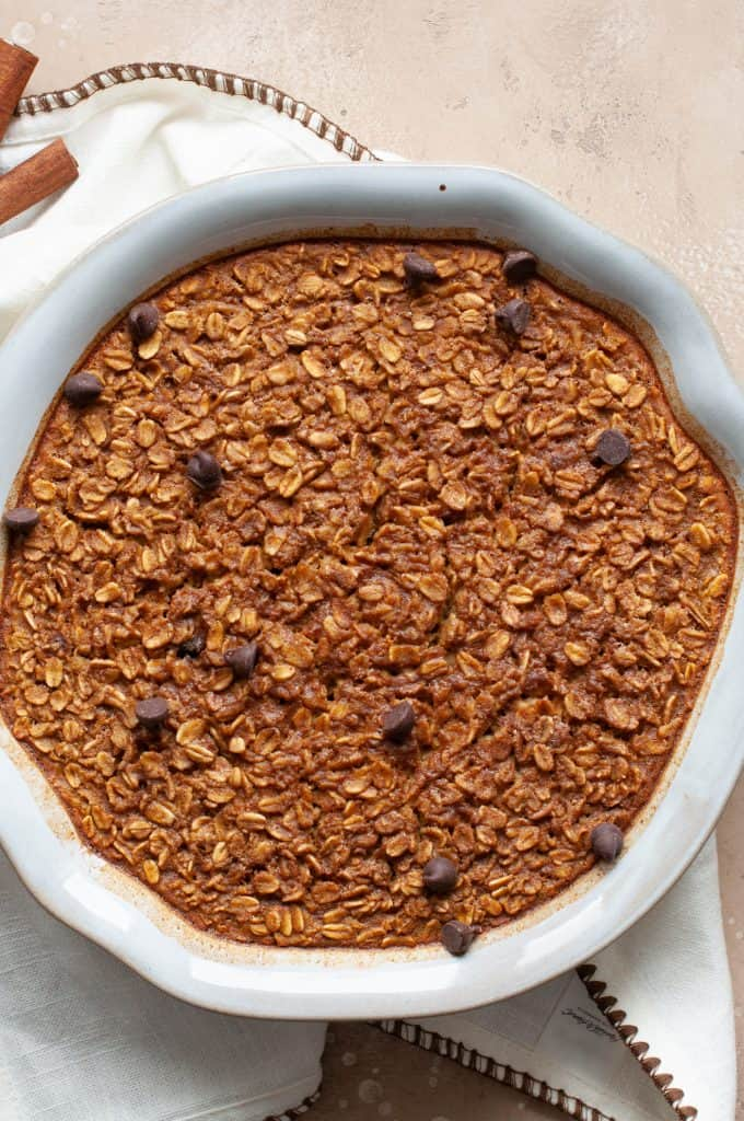healthy baked pumpkin oatmeal