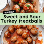 healthier sweet and sour turkey meatballs