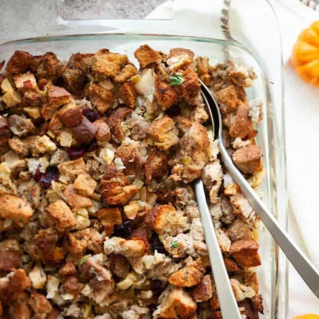 chicken apple sausage stuffing