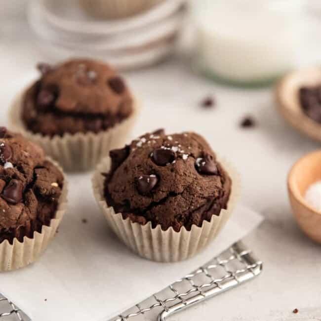 chocolate peanut butter muffin