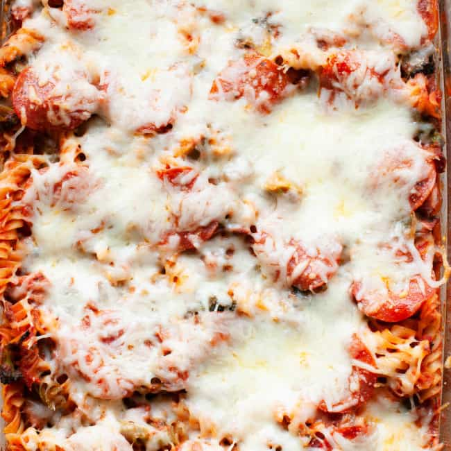 healthy pizza casserole