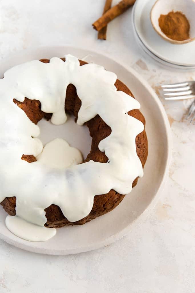 banana cake on plate