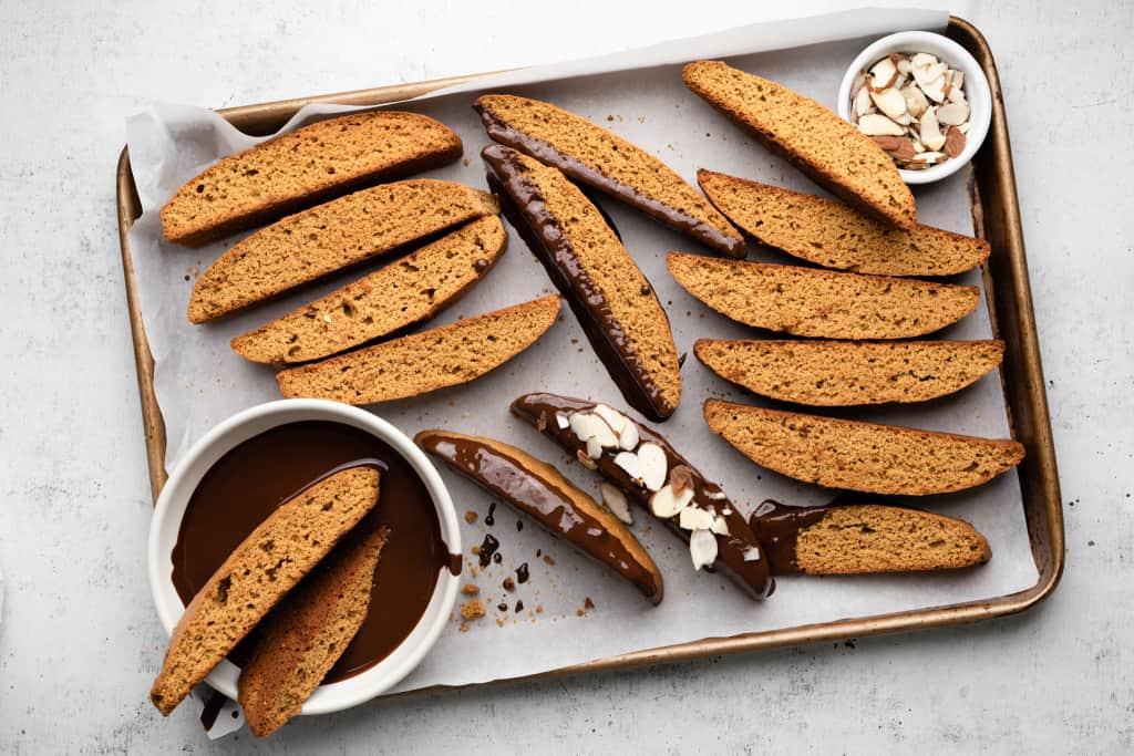 biscotti on tray