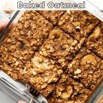healthy banana bread baked oatmeal