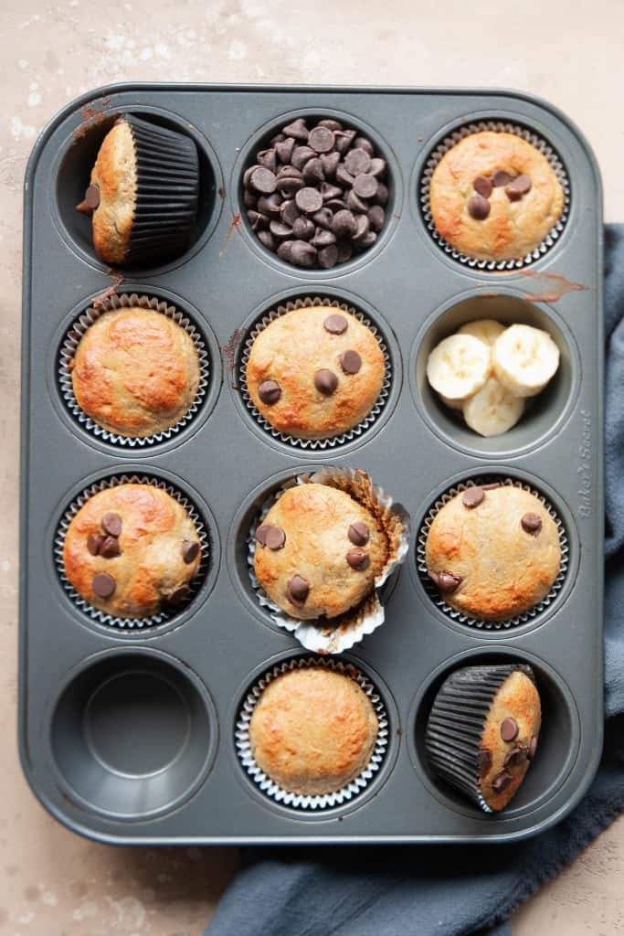 protein muffins in tin