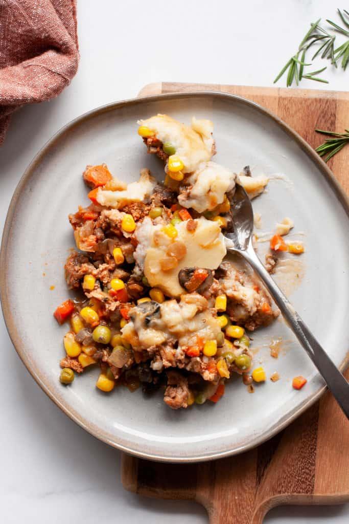 turkey shepherd's pie on plate