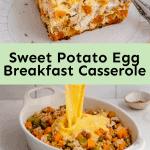 sweet potato egg breakfast casserole