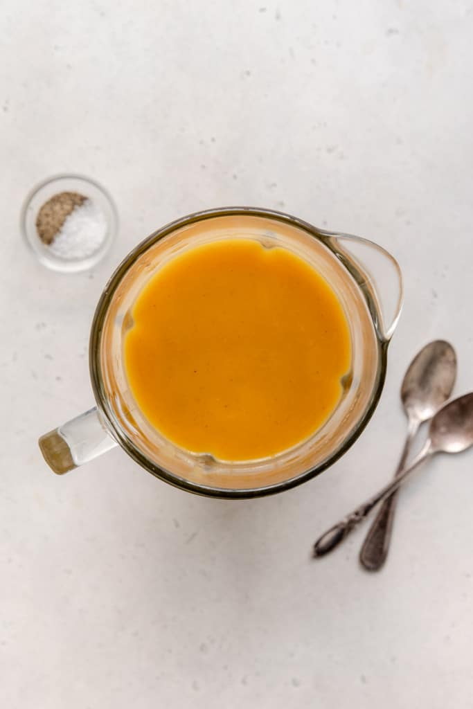 makings of butternut squash soup