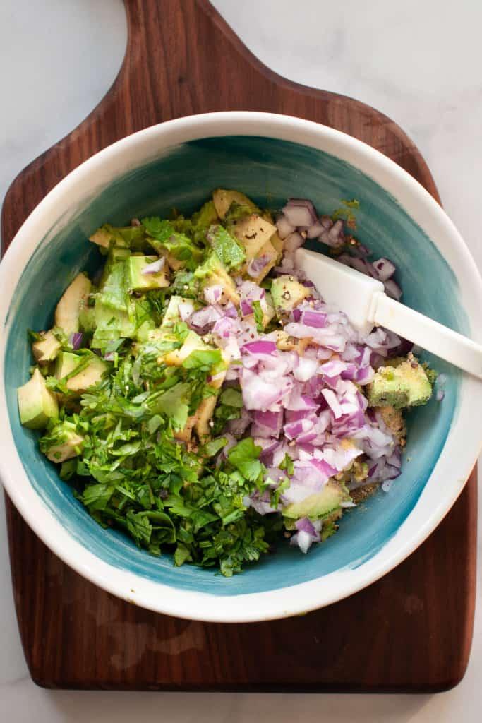 makings of guacamole