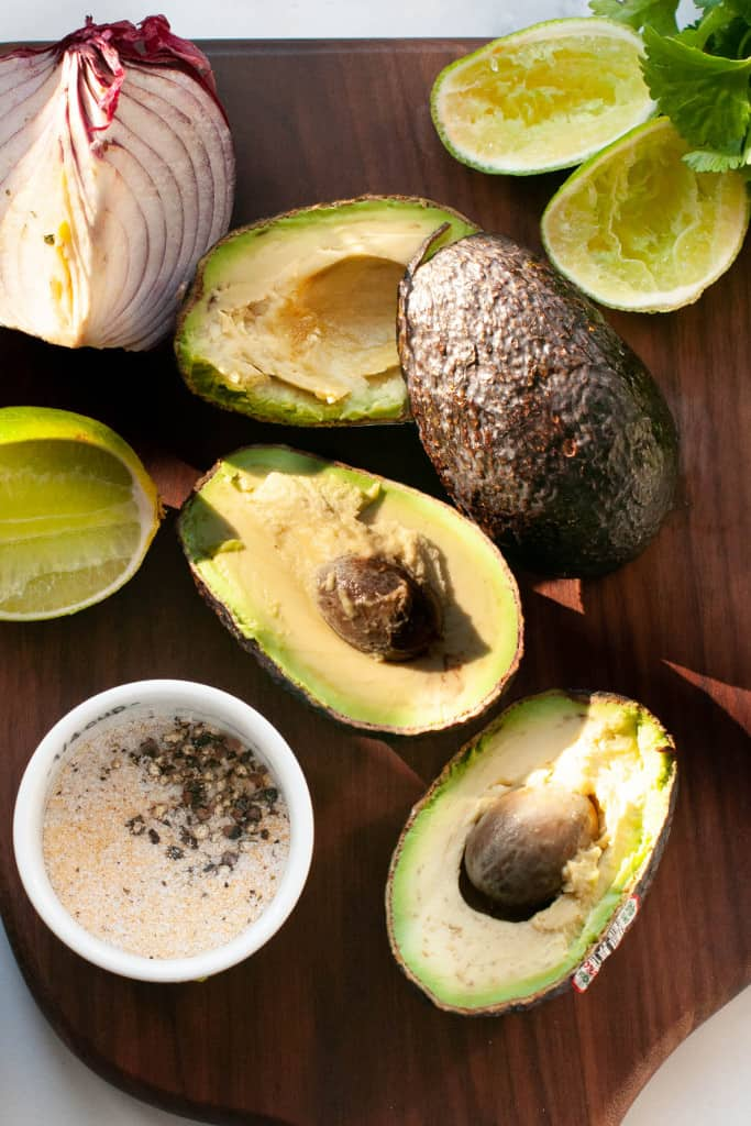 avocados and making of guacamole