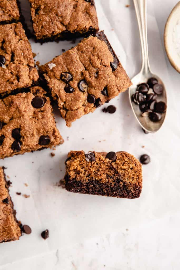healthy brookies