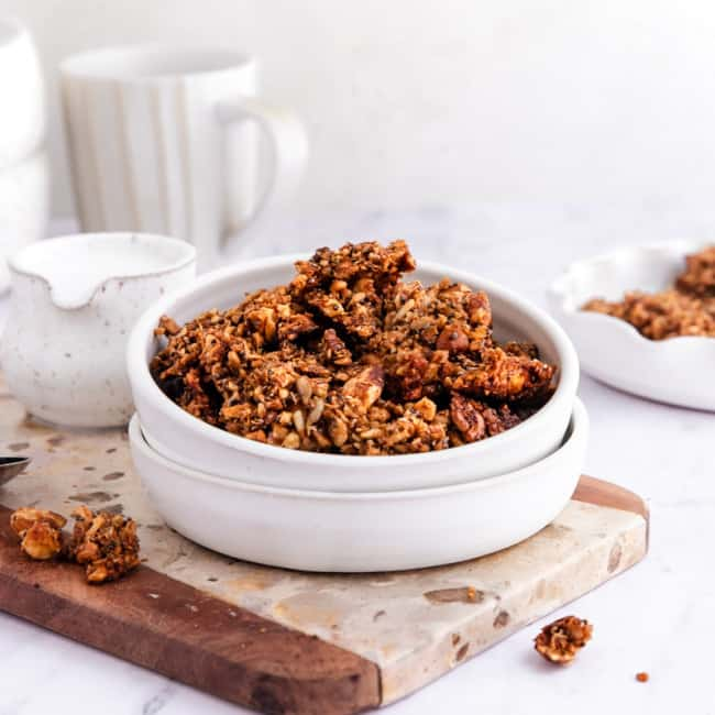paleo granola in bowl