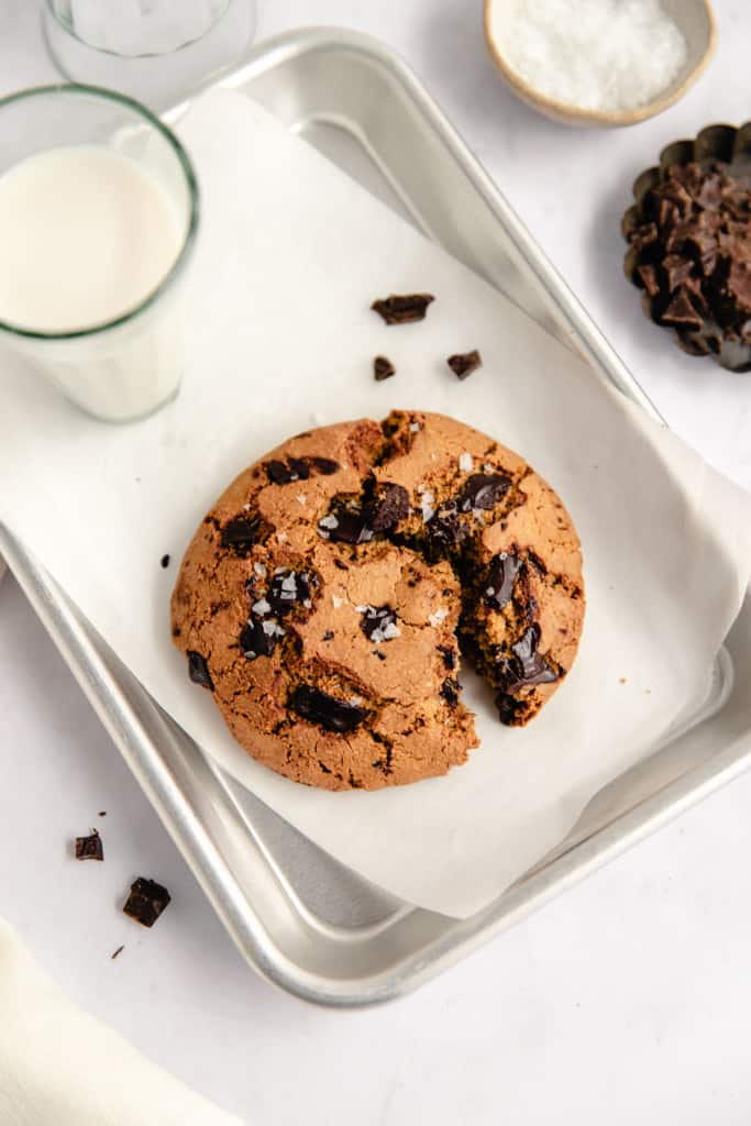 single serve cookie on tray