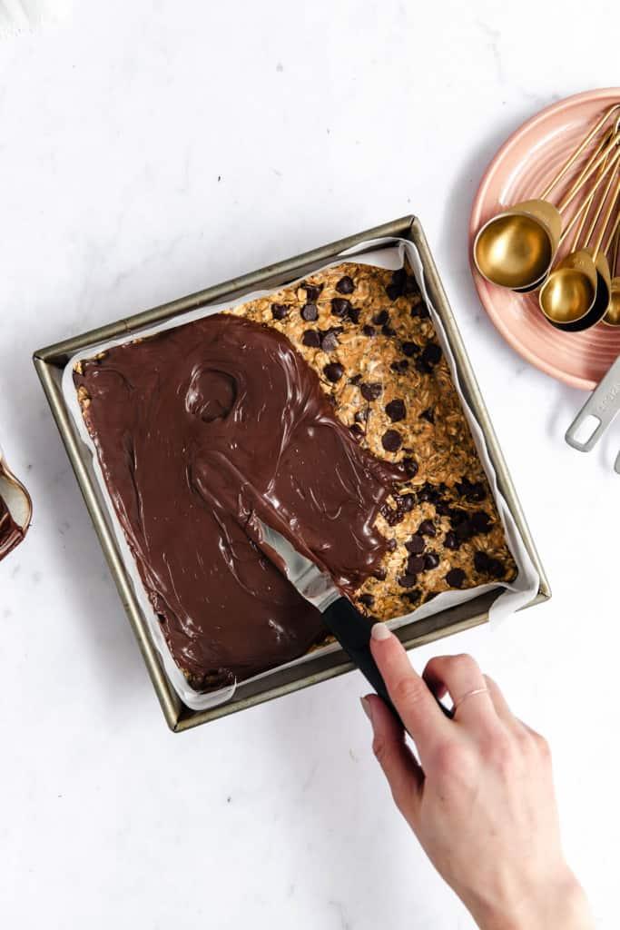 making chocolate energy bars
