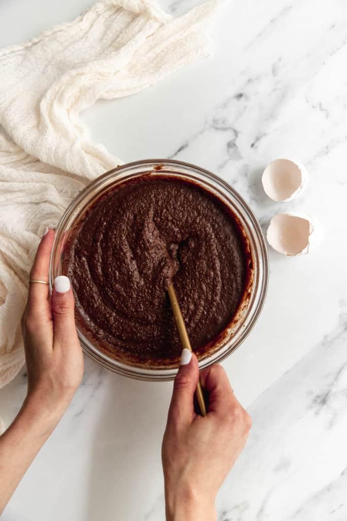 making healthy chocolate cake