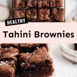 Healthy Tahini Brownies