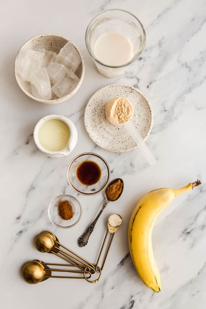 ingredients for snickerdoodle protein smoothie