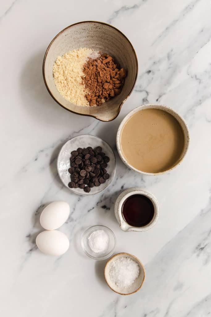 ingredients for tahini brownies