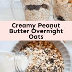 Creamy Peanut Butter Overnight Oats