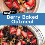 healthy berry baked oatmeal