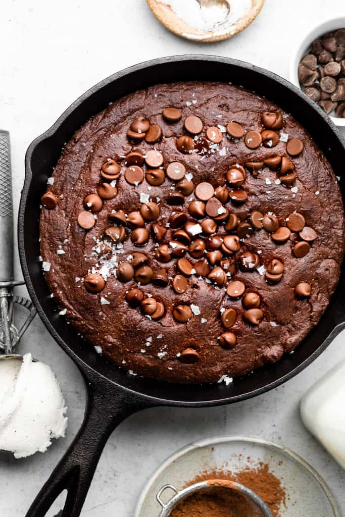 healthy brownie skillet
