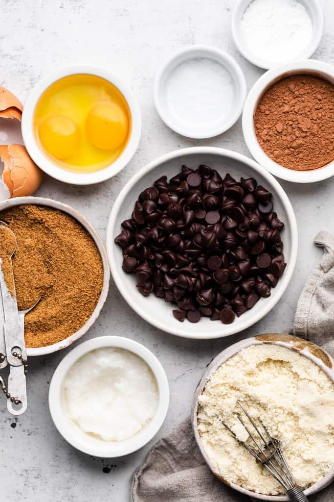 ingredients for healthy brownie skillet