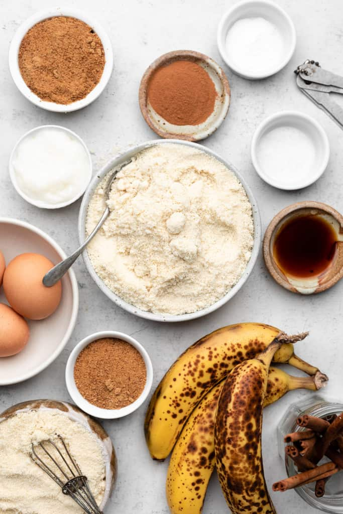 ingredients for coffee cake banana bread